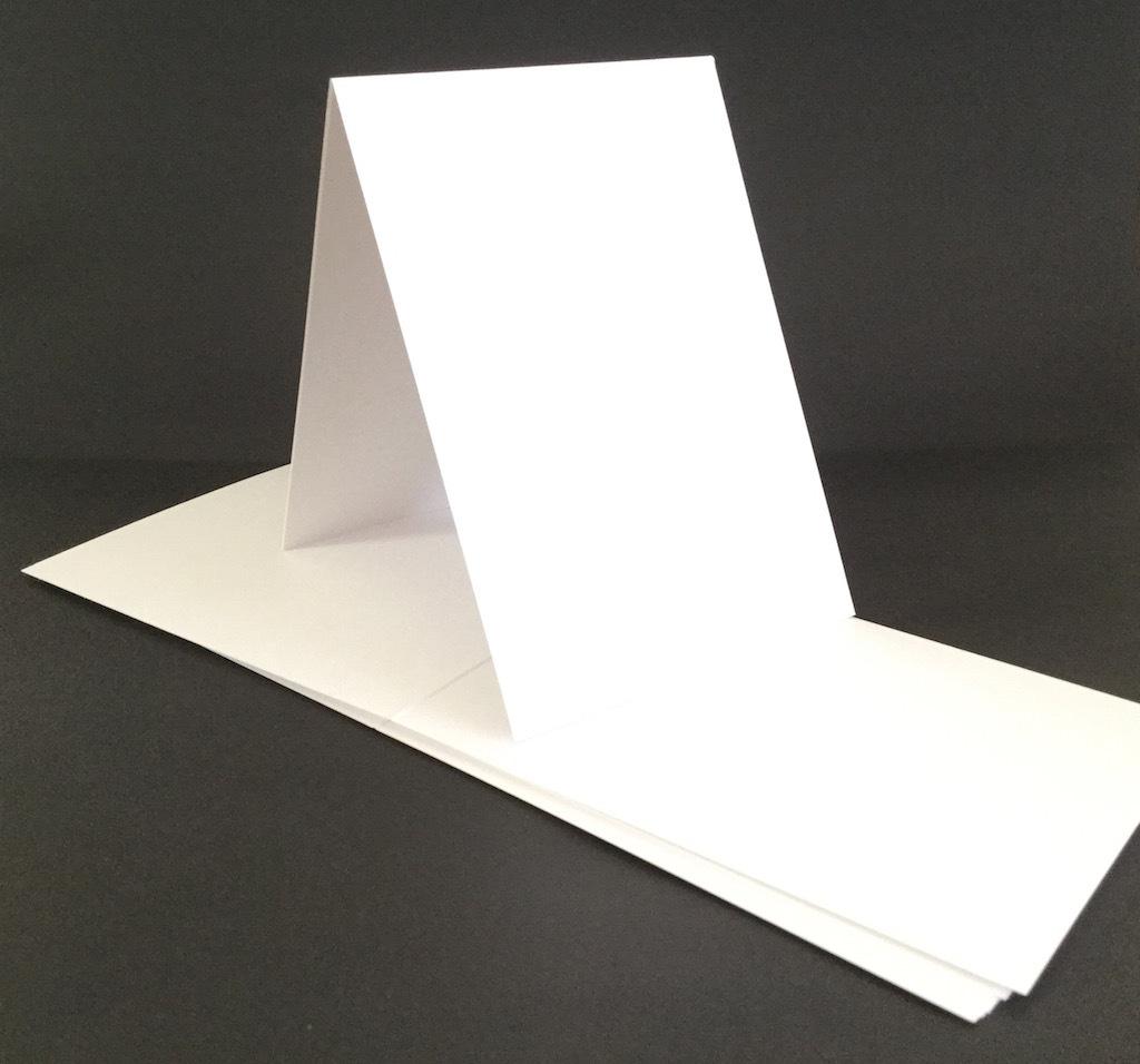 Scrapbook paper cart - Tent Fold White 300gsm Card Single Fold Size B 10