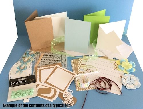 Example of our Lucky Dip Card Making Kit