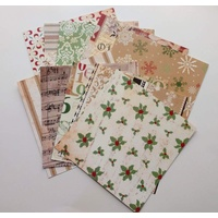 "Christmas Vintage Themed 6""x6"" Papers x 10"