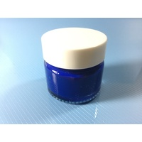 Blue Stencil Paint Pot