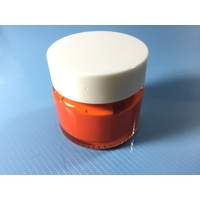 Orange Red Stencil Paint Pot