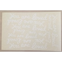 White Vinyl You are Loved Sticker Sheet