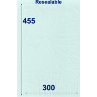 Resealable Cellophane Bag Large Pack of 100
