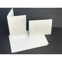 White 250GSM Gloss Card Single Fold Size C (10 Pack)