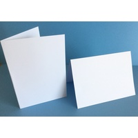 300gsm White Card Single Fold Size P (10 Pack)