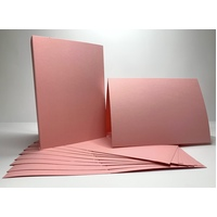Pink Single Fold Card Size B