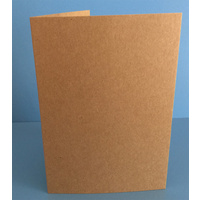 Kraft Cards Single Fold Card Size C (10 Pack)