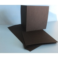 Black Square 125mm 300gsm Card (10 pack)