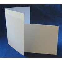 White Textured Linen Single Fold Card Size B (10 Pack)