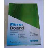 Mirror Card Green A4 250gsm
