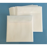 Square 150mm White Peel & Stick Envelope x 10