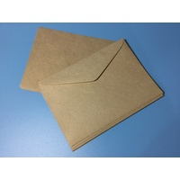 C6 KRAFT Lick & Stick Envelope x 10