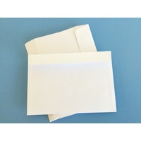 C6 White Lick & Stick Envelope x 10