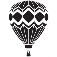 Dreamweaver Hot Air Balloon Stencil
