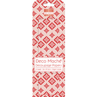 Deco' Mache' Red Geometric Decoupage Papers