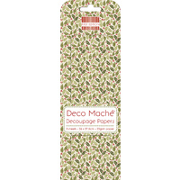 Deco' Mache' Small Holly Decoupage Papers