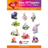 Candles & Flowers 3D Paper Tole