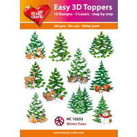 Hearty Crafts Winter Trees Die Cut Paper Tole