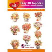 Hearty Crafts Flowers in Vases & Pots Die Cut Paper Tole