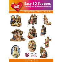 Hearty Crafts Christmas Nativity Die Cut Paper Tole