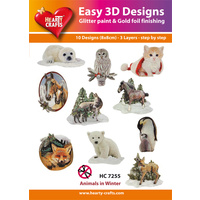 Hearty Crafts Winter Animals Die Cut Paper Tole
