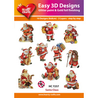 Hearty Crafts Santa Die Cut Paper Tole
