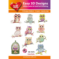Hearty Crafts Owls Die Cut Paper Tole