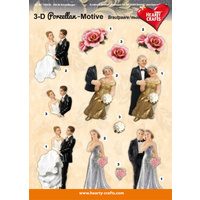 Porcelain Wedding & Anniversary Glossy 3D Paper Tole Sheet