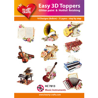 Hearty Crafts Musical Instruments Die Cut Paper Tole