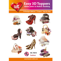 Hearty Crafts Shoes, Hats & Bags Die Cut Paper Tole