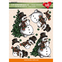XL Christmas Snowman 3D Cut Out Sheet