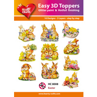 Hearty Crafts Easter Rabbits Die Cut Paper Tole