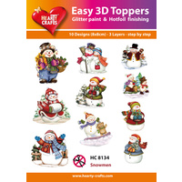 Hearty Crafts Snowmen Die Cut Paper Tole