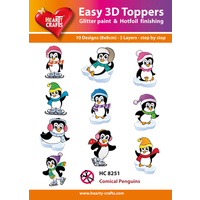 Hearty Crafts Comical Penguins Die Cut Paper Tole