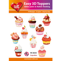 Hearty Crafts Cupcakes Die Cut Paper Tole