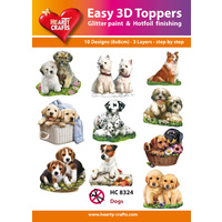 Hearty Crafts Dogs & Puppies Die Cut Paper Tole