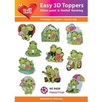Hearty Crafts Happy Frogs Die Cut Paper Tole