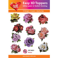 Hearty Crafts Roses Die Cut Paper Tole