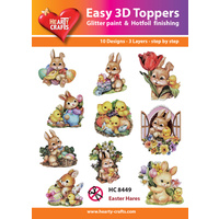 Hearty Crafts Easter Hares & Rabbits Die Cut Paper Tole