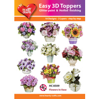 Hearty Crafts Flowers in Vases Die Cut Paper Tole