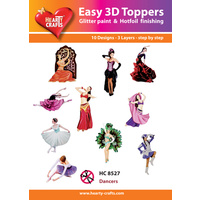 Hearty Crafts Dancers Die Cut Paper Tole