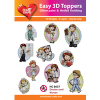 Hearty Crafts Doctors & Nurses Die Cut Paper Tole