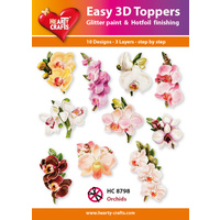 Hearty Crafts Orchids Die Cut Paper Tole