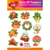 Hearty Crafts Christmas Ornaments Die Cut Paper Tole