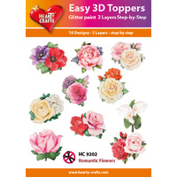 Hearty Crafts Romantic Flowers Die Cut Paper Tole