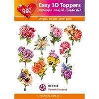 Hearty Crafts Flowers & Bouquet Die Cut Paper Tole