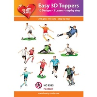 Hearty Crafts Football or Soccer Die Cut Paper Tole