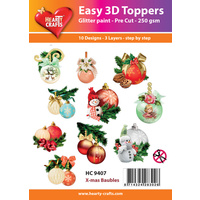 Hearty Crafts Christmas Baubles Die Cut Paper Tole