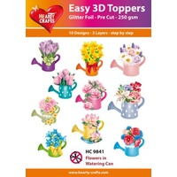 Hearty Crafts Flowers in Watering Cans Die Cut Paper Tole