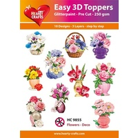 Deco Flowers in Vases & Baskets 3D Die Cut Paper Tole